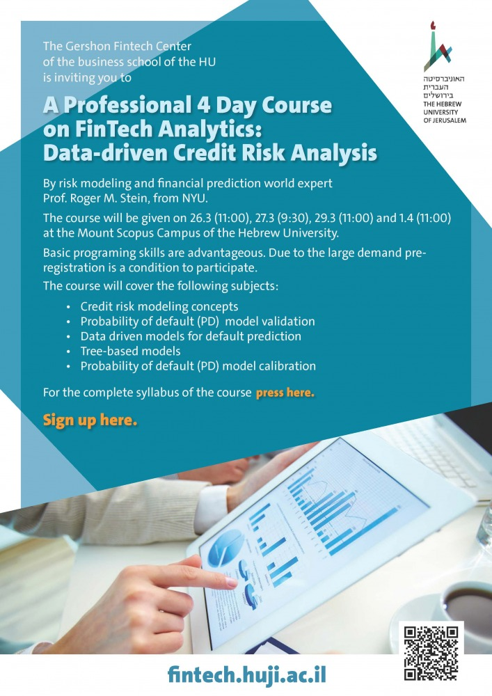 Fintech Analytics 5 Day Course